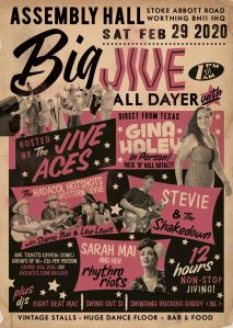 poster from the Jive Aces Big Jive All-Dayer
